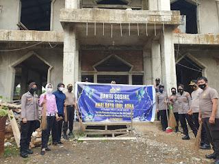 Jelang Hari Raya Idul Adha Polres Gowa Gelar Bakti Sosial di Dua Lokasi  Masjid Di Gowa.