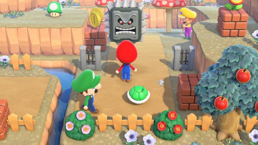 How Super Mario's pipes work in Animal Crossing New Horizons