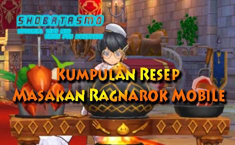 Kumpulan Resep Masakan Ragnarok Mobile