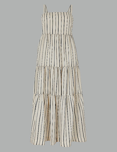 marks and Spencer striped relaxed maxi dress