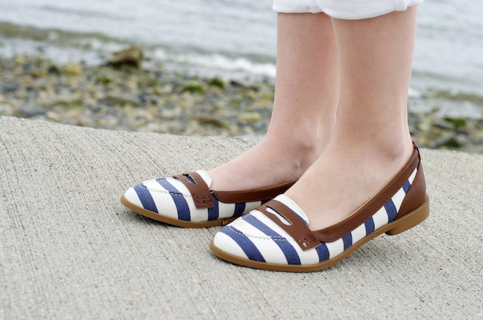 Spring Shoes Striped Flats