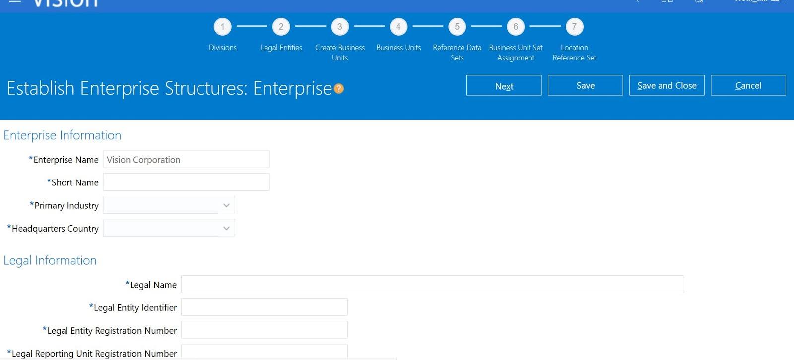 Enterprise Structure