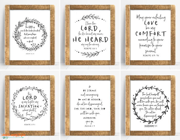 Scripture Printables for Comfort