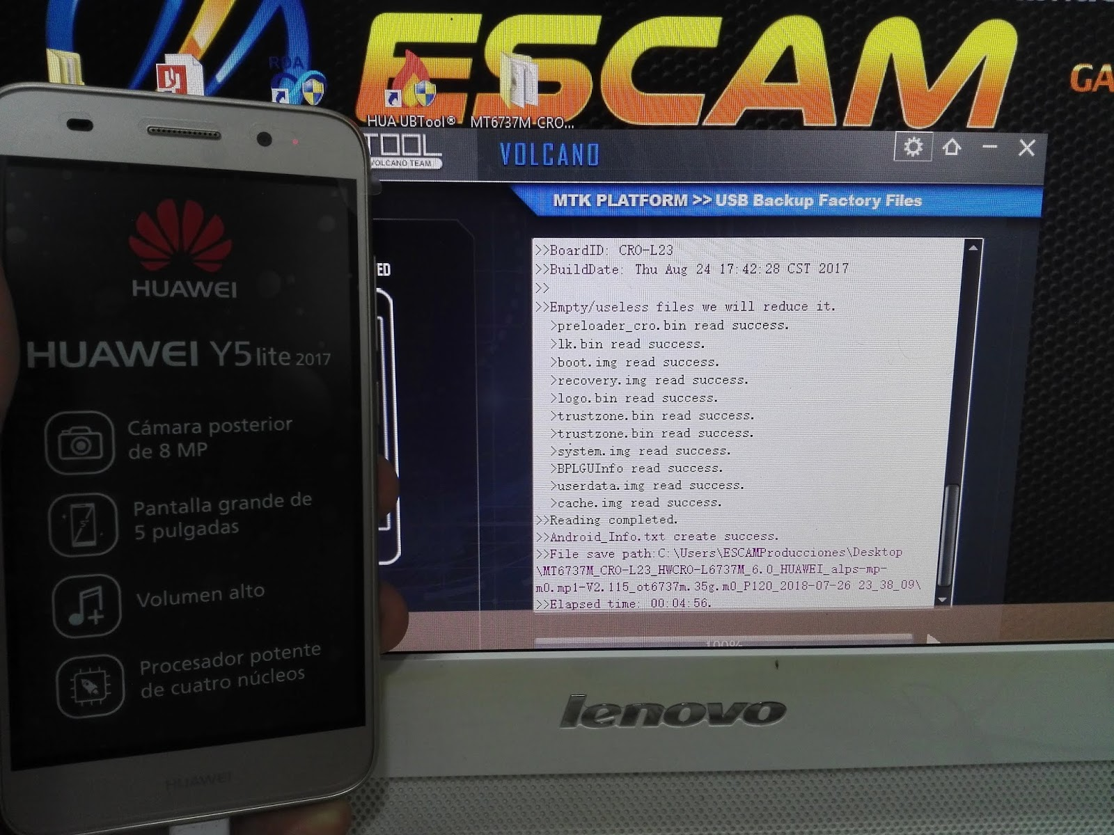 HUAWEI CRO-L23 Revivir y/o Actualizar (Rom / INFERNO BOX / Sp Flash