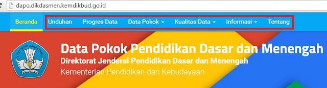 gambar halaman utama web dapodikdasmen kemdikbud