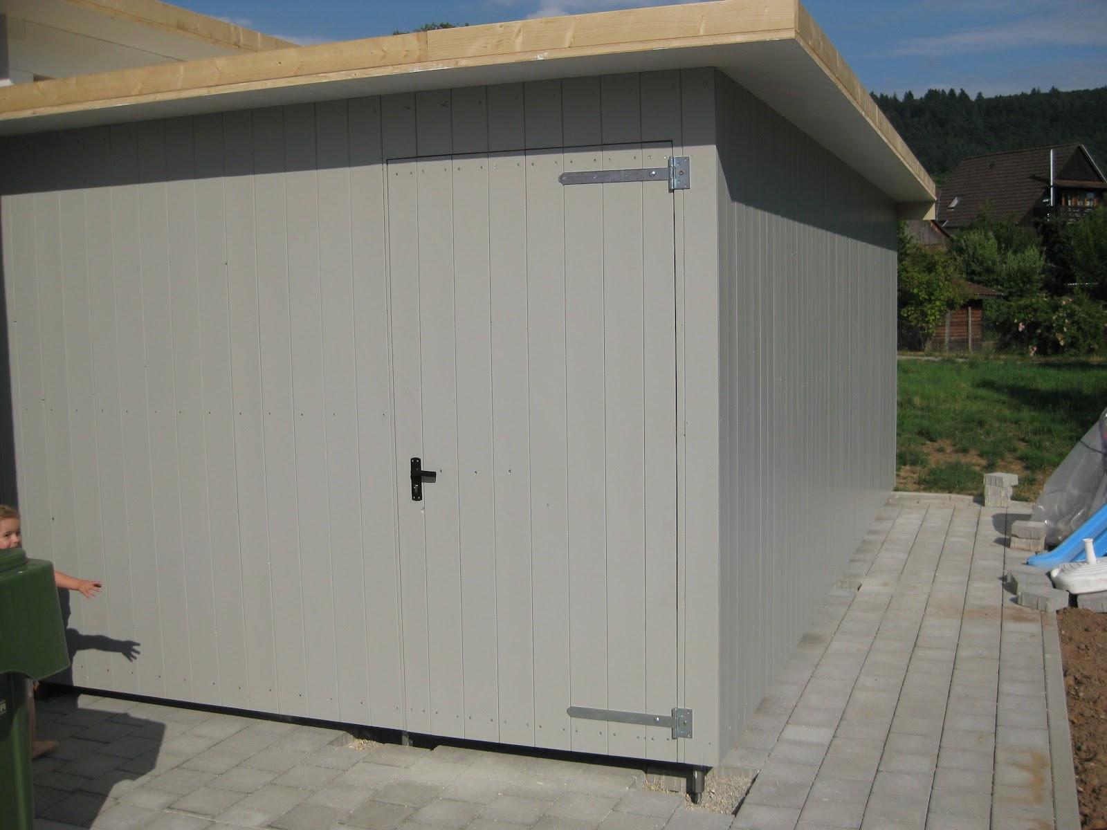 wir bauen ein okal haus carport schalung abgeschlossen. Black Bedroom Furniture Sets. Home Design Ideas