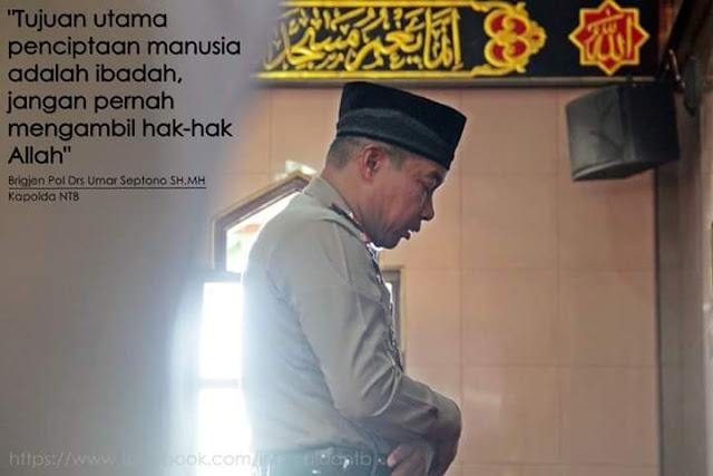 Sangat Menyentuh Hati, Demi Salat Jamaah di Masjid Kapolda Ini Rela Pertaruhkan Jabatannya