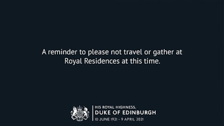 A reminder not to travel to royal residences at this time