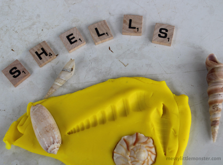shell playdough activity