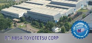 Lowongan Kerja Cikarang : PT Nusa Toyotetsu Corporation - Operator Produksi