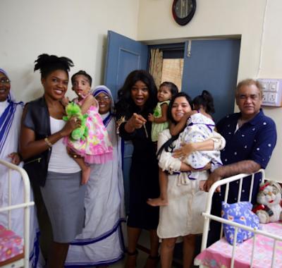 Photos from Omoni Oboli and Omotola Jalade's trip to India