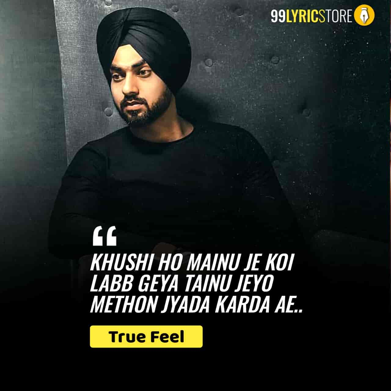 True Feel Punjabi Song Lyrics sung by Gurpartap