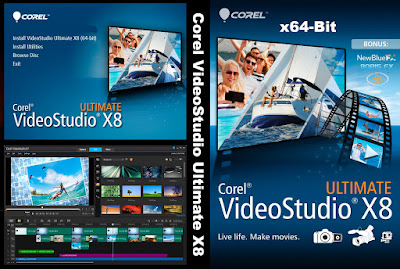 Corel VideoStudio Ultimate X8 v18.0.0.181 x64-Bit DVD Capa