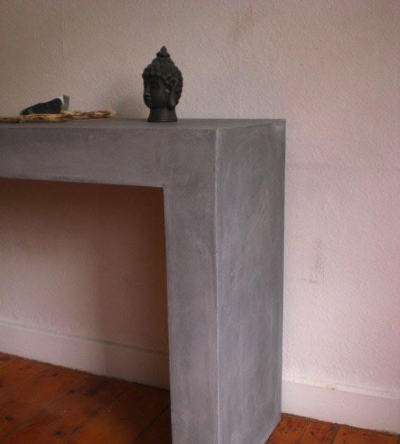 Farbe Kunst Putz: Beton cire Tisch