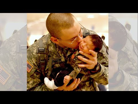 Beautiful Moment of Soldier Meeting His Son for The First Time
