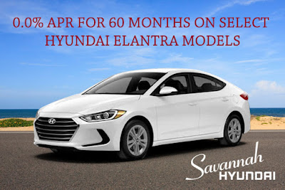 Savannah Hyundai Elantra Zero Percent Financing Specials