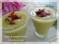 Soupe de courgette froide à la crème de coco