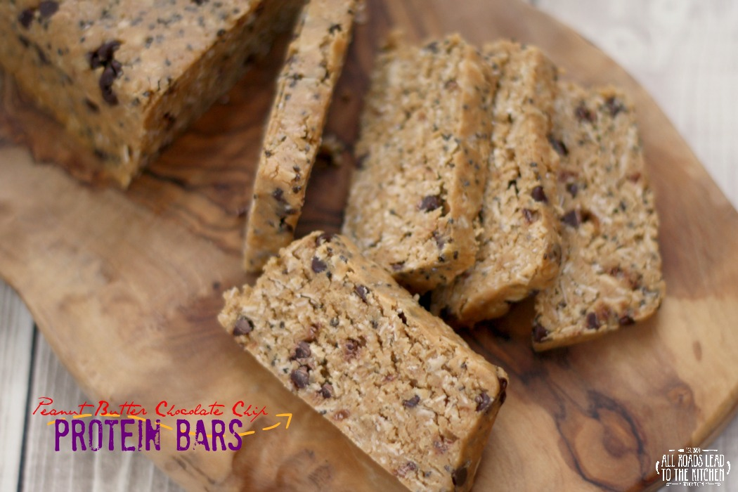 No-Bake Peanut Butter Chocolate Chip Protein Bars