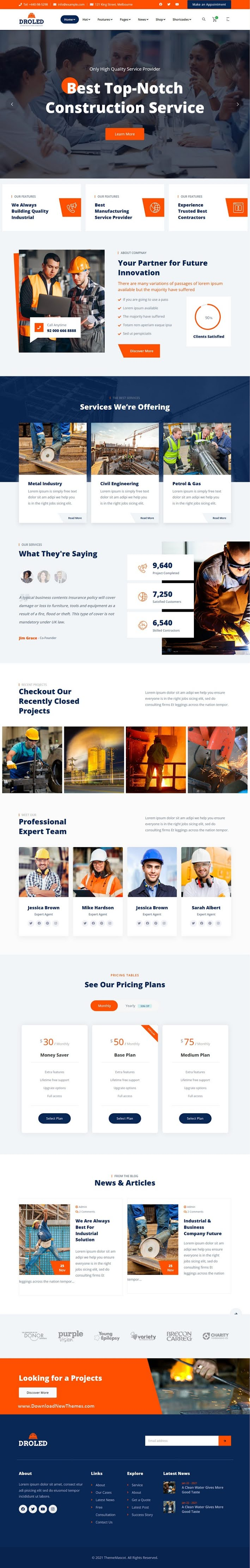 Factory Industrial Bootstrap Template
