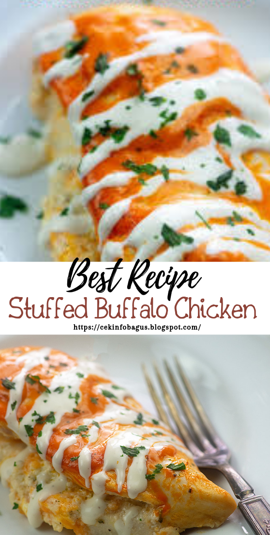 Stuffed Buffalo Chicken #healthyfood #dietketo #breakfast #food