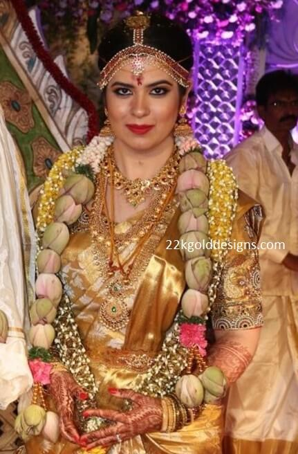 Radhika Sarathkumar Daughter Rayanne Wedding Jewellery