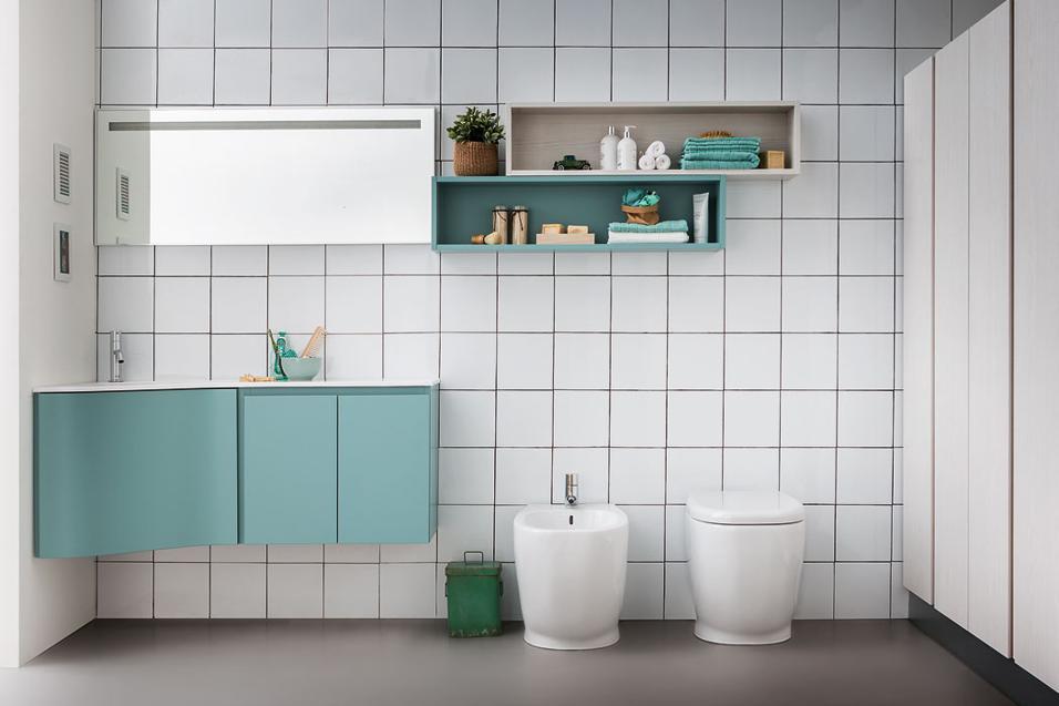 10 soluciones para ba os peque os colores en casa - Soluciones para banos pequenos ...