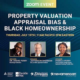 Mary Cummins, Andre Perry, Pam Perry, Christy Bunce, Jefferson Sherman, Property Valuation, Appraisal Bias, & Black Homeownership, Appraisal Institute, real estate appraiser, appraisal, real estate