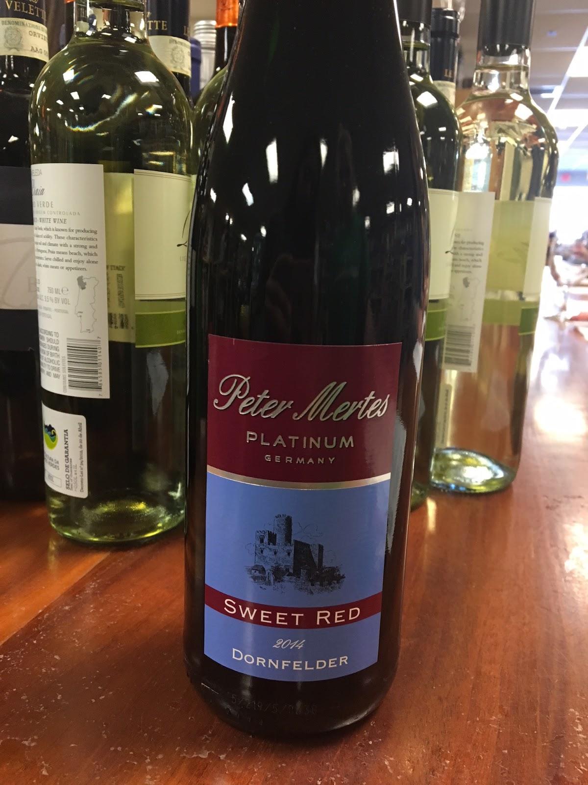 Peter Mertes Sweet Red Dornfelder Briau0027s Wine