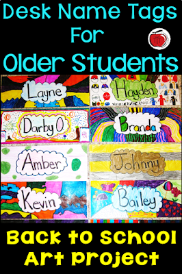 Desk name tags for older students Terri's Teaching Treasures
