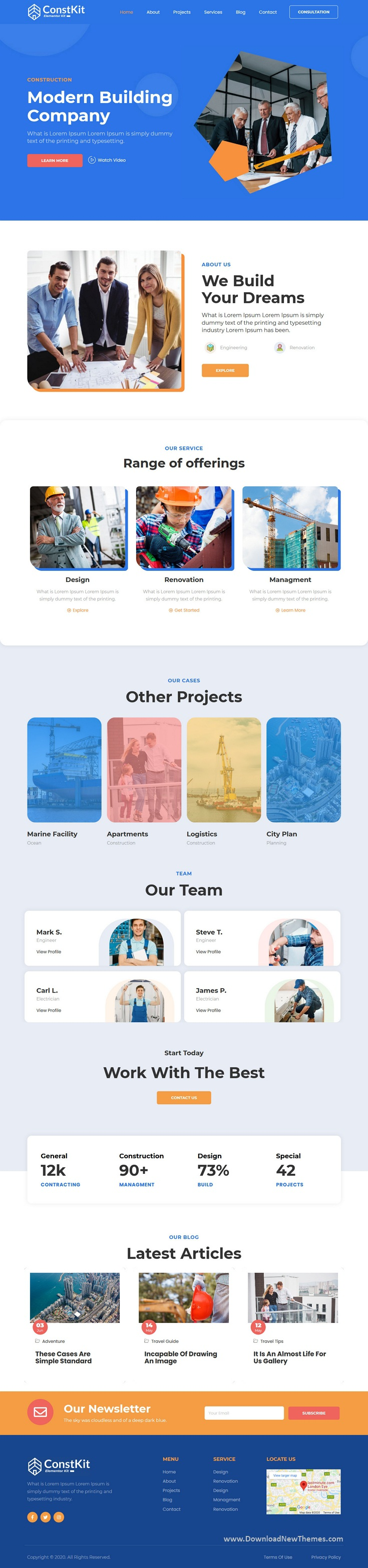 Construction and Industrial Elementor Template