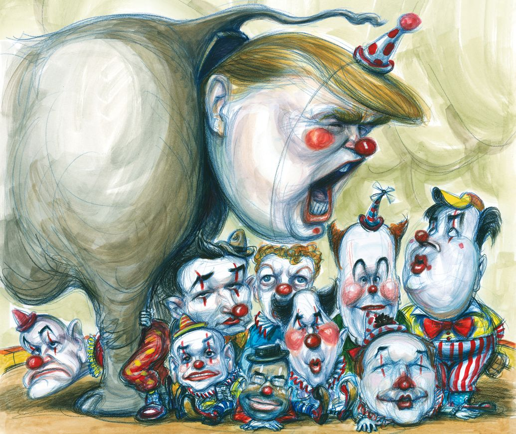 The frolicking gadfly the emperor has no clothes or class or integrity or humility or - Elephant assis ...