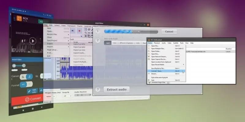 استخراج الصوت من الفيديو المميز