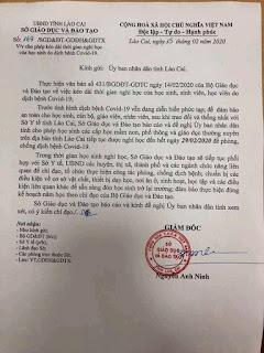 Lào Cai : Cho học sinh nghỉ hết tháng 2/2020  Học sinh có thể phải học cả chủ nhật