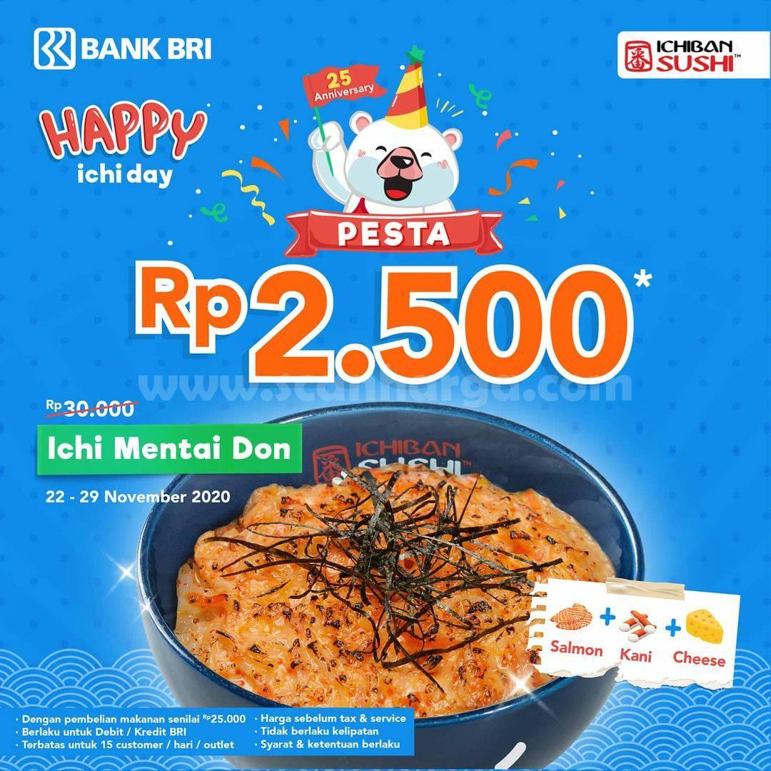 Ichiban Sushi Promo Ichi Mentai Don cuma Rp 2.500* dengan Kartu Kredit BRI