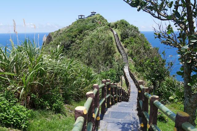 Langer Weg auf Lyu Dao Green Island