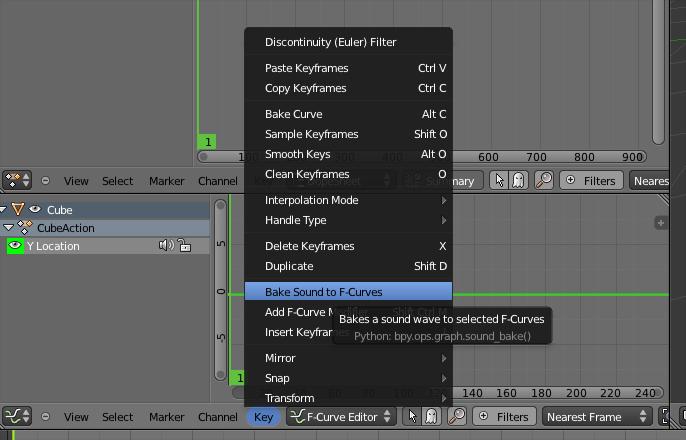 VFX / Sound Driven Motion, Bake and Unbake | Blender Sushi