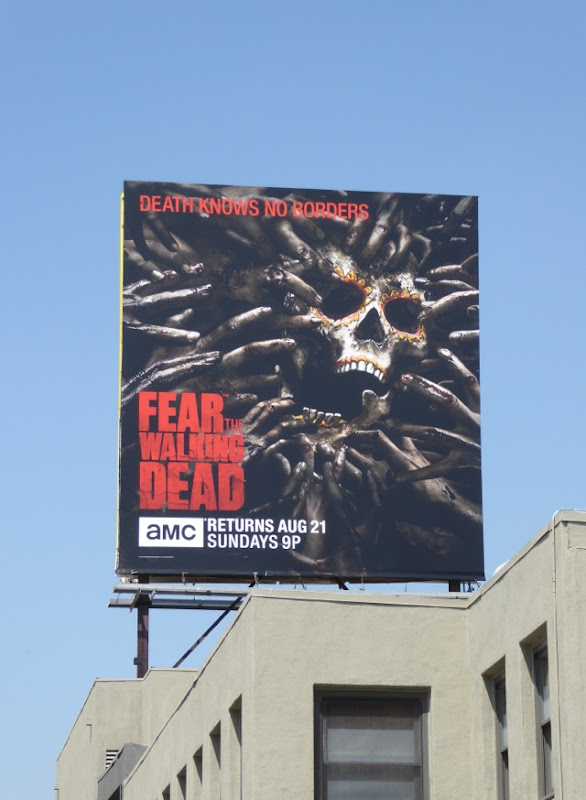 Fear the Walking Dead Day of the Dead skull billboard