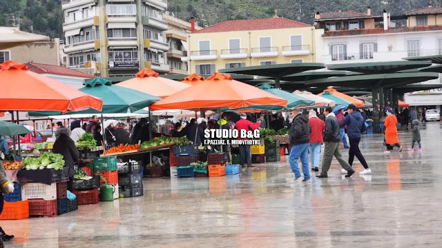 Μειωμένη η αγοραστική κίνηση στην λαϊκή αγορά του Άργους και λόγω του καιρού