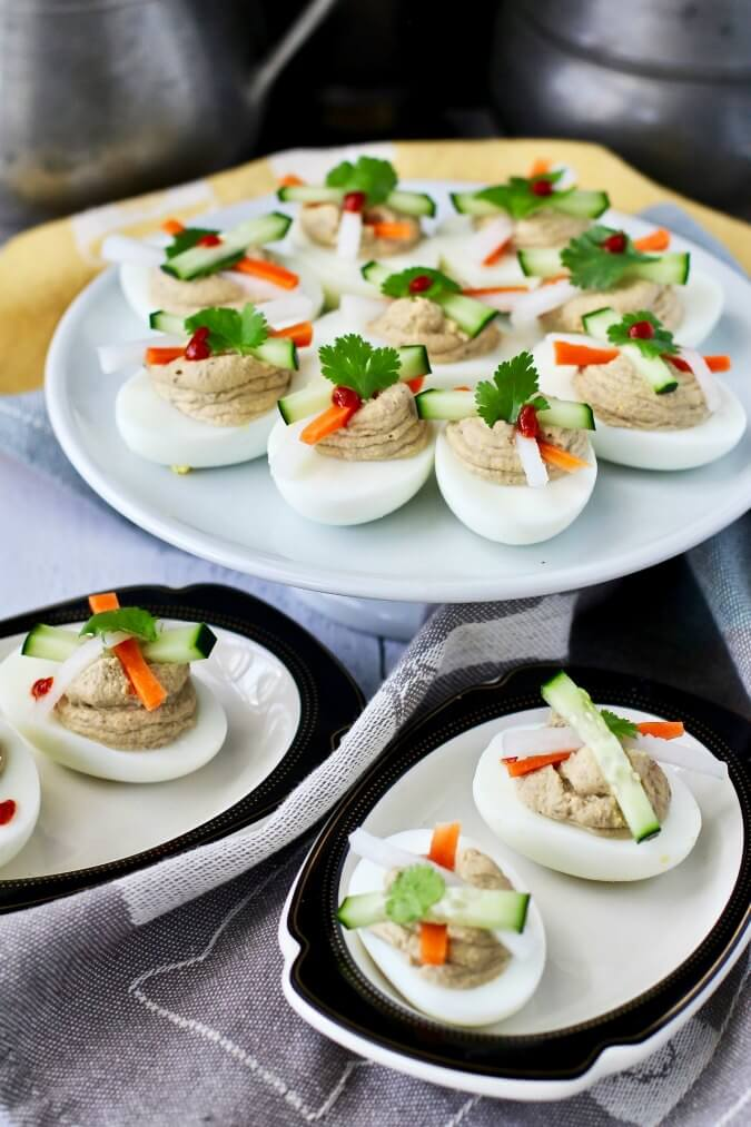 deviled eggs with pickles