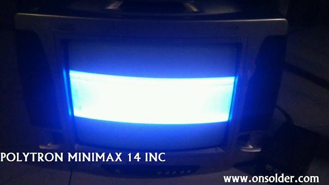 Memperbaiki tv Polytron minimax Menciut penuh atas bawah