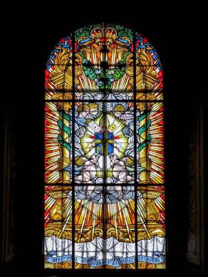 Szent Mihály-templom ólomüvegei