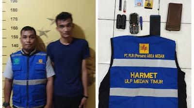 Petugas PLN Gadungan di Medan