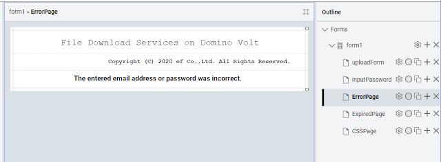 Form - error page
