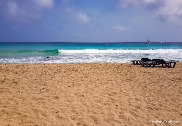 Praia em Santa Maria, Ilha do Sal, Cabo Verde
