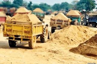नए रेत नीति में खदान से 5 किमी दूर से लेकर 8 किमी के बीच ही हो सकेगा अब रेत का भंडारण
