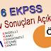 2016 EKPSS Sınav Sonuçları Açıklandı