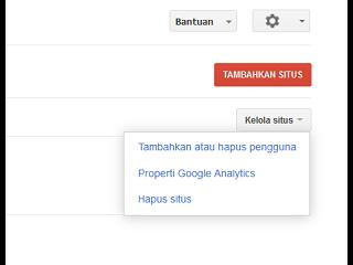 halaman dashboard Google Webmaster Tools