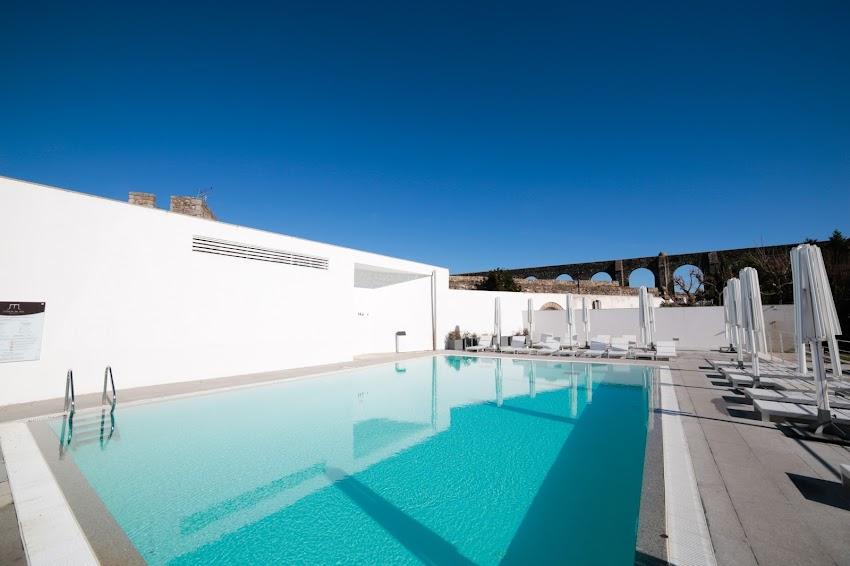 NEW INDOOR POOL AT THE 5 STAR M'AR DE AR AQUEDUTO HISTORIC DESIGN HOTEL AND SPA