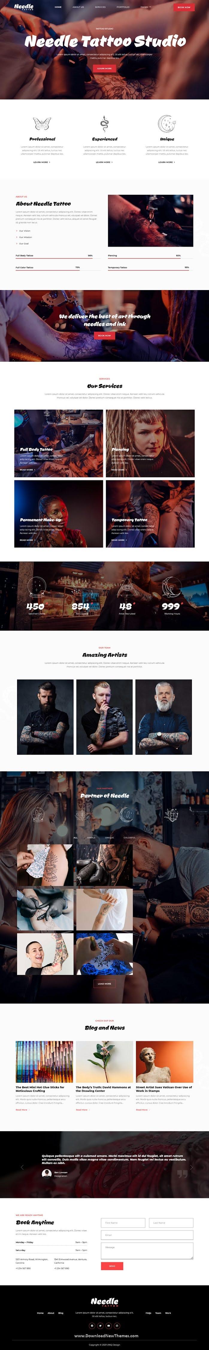 Tattoo Studio Elementor Template Kit