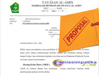 Contoh Form dan Proposal RKB, PERPUS, MEUBULER Lengkap dengan RAB Untuk SIMSARPRAS